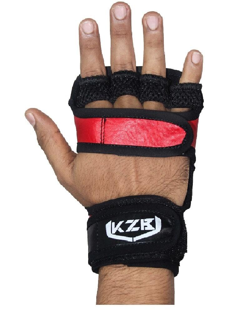 guantes de gym rojo