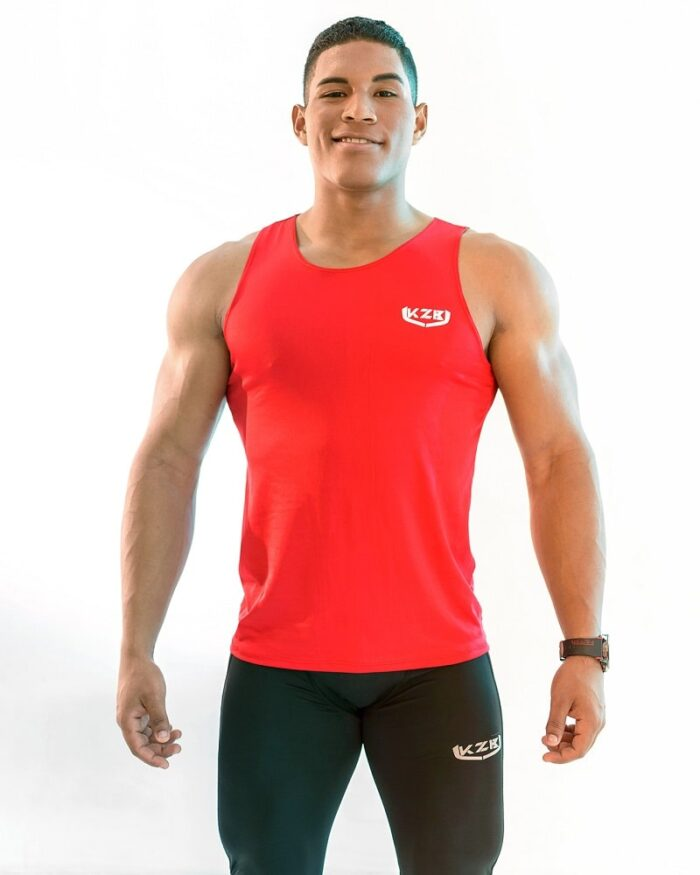 camisilla de compression roja