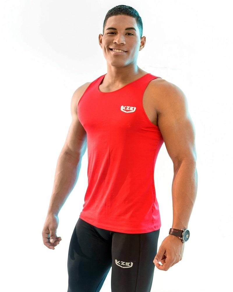 camisilla de compression roja 2