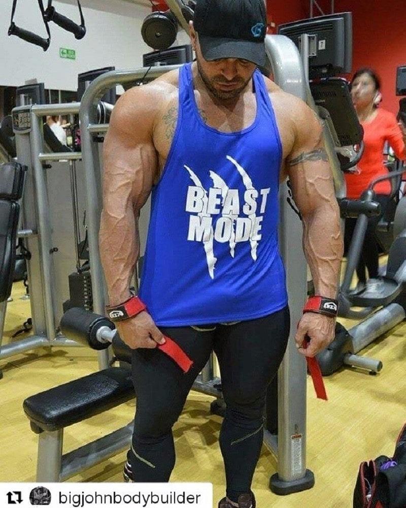 Camiseta estampada azul beast