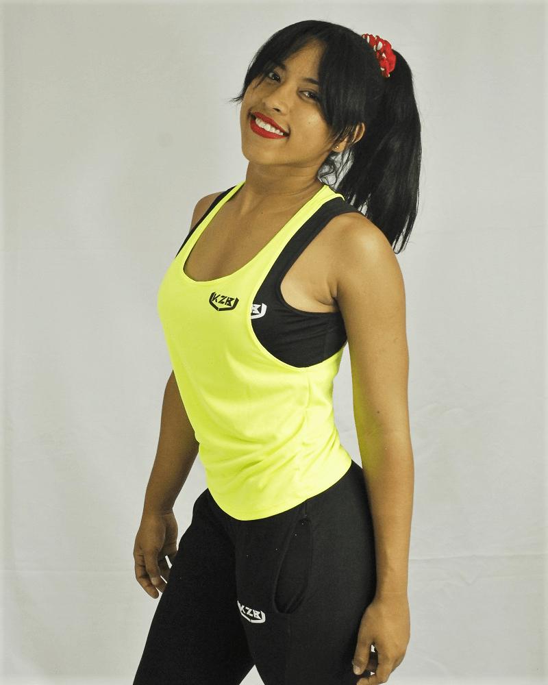 camisilla de mujer amarillo neón