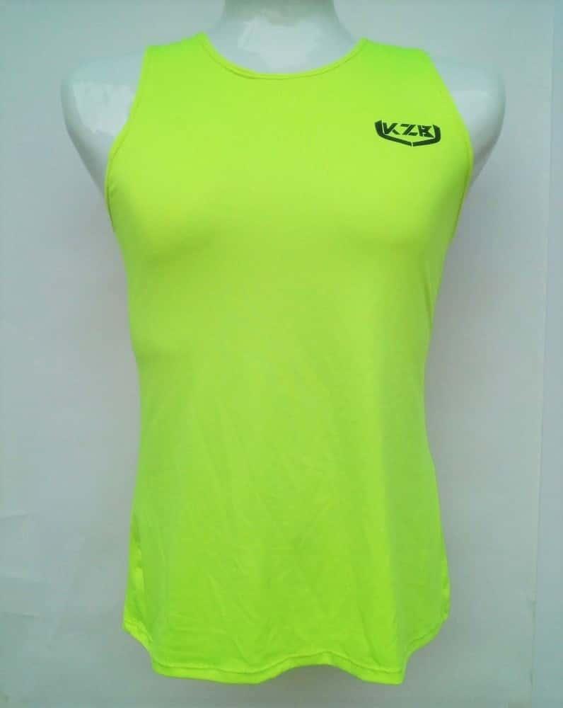 camisilla de compression amarillo neon