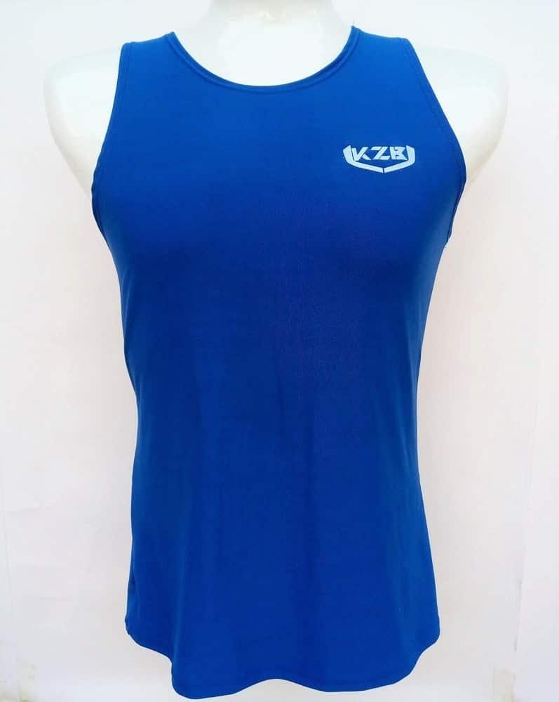 camisilla de compression azul