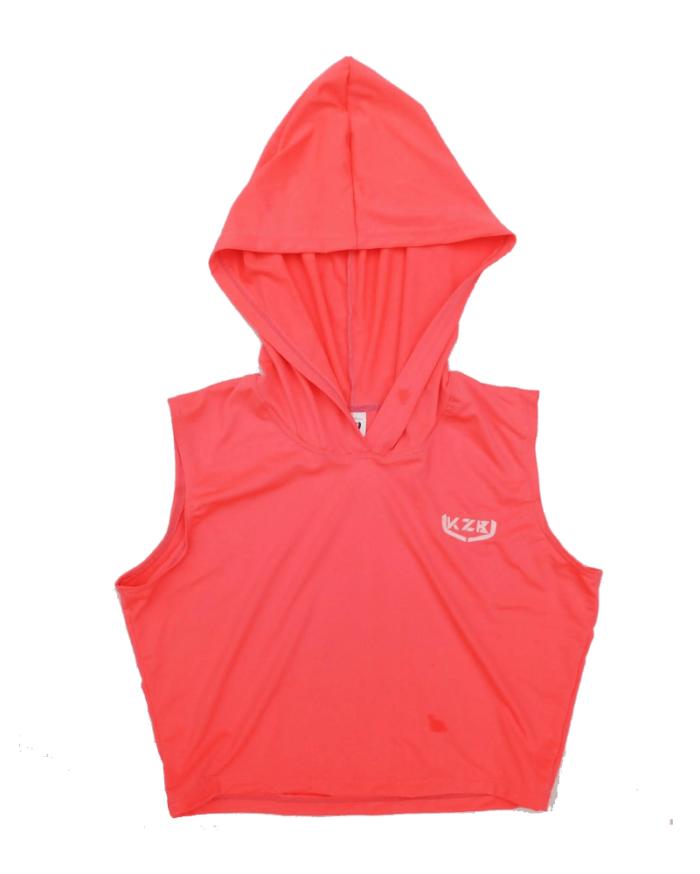 top de capucha rosa