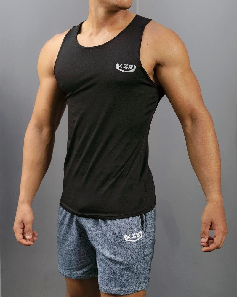 camisilla de compression negra