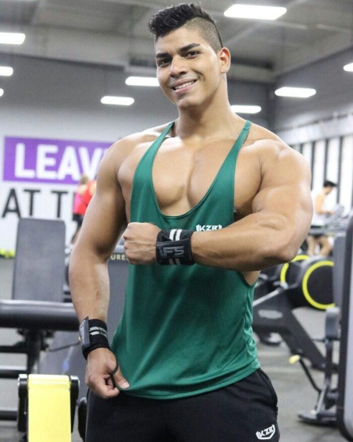 camisillas esqueleto verde gym