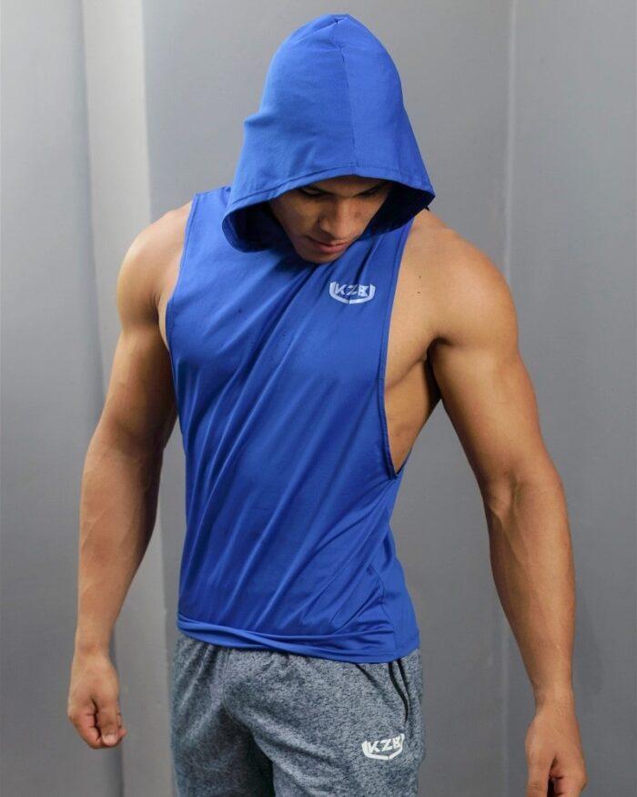 capucha gym azul rey