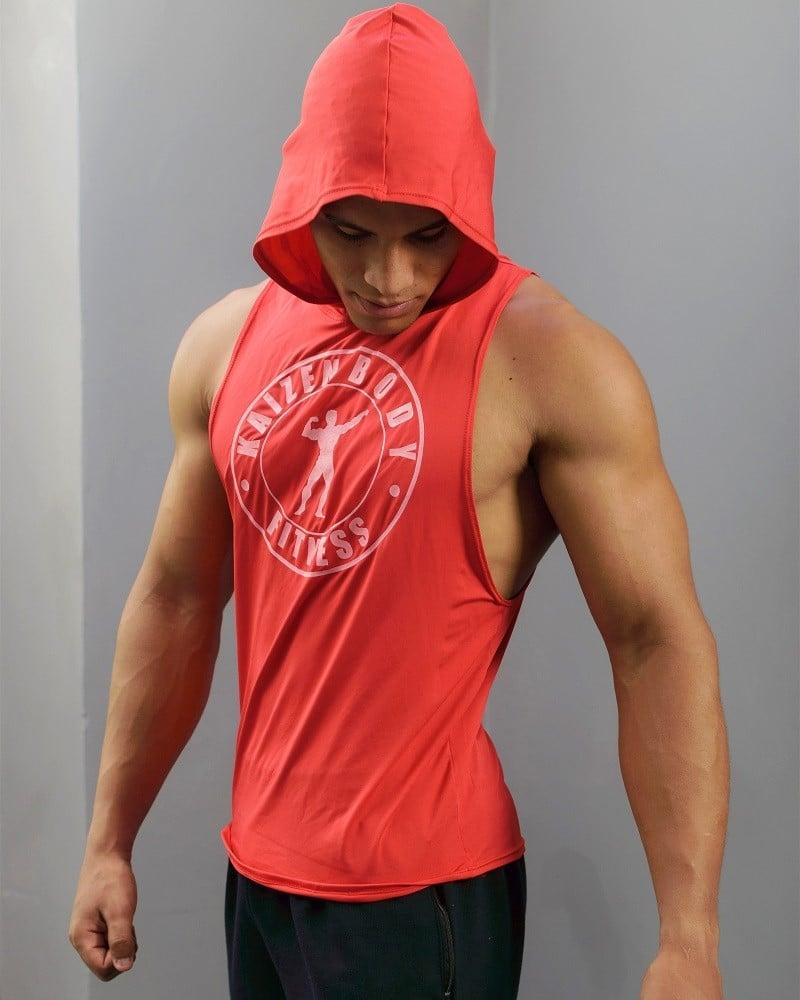 capota roja de licra dry
