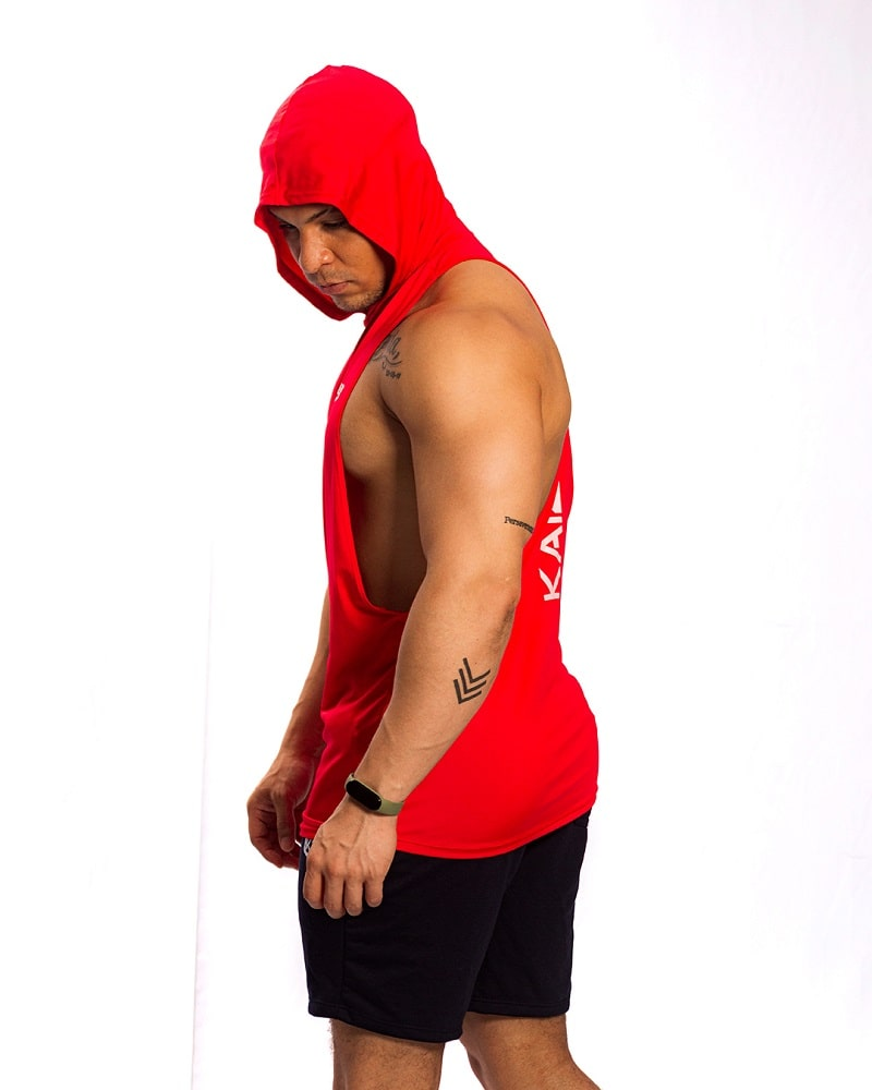 hoodie roja esqueleto